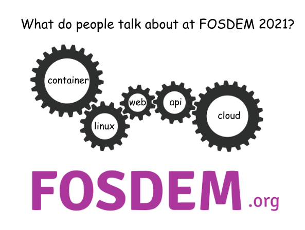 What do people talk about at FOSDEM 2021